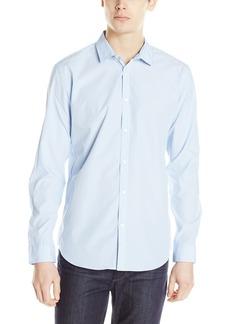 Calvin Klein Men's Ombre Stripe Long Sleeve Woven Shirt
