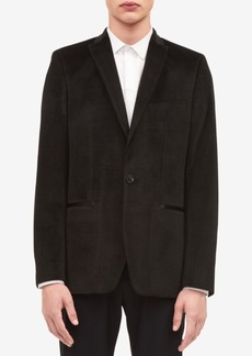 Calvin Klein Men's One-Button Velvet Jacket