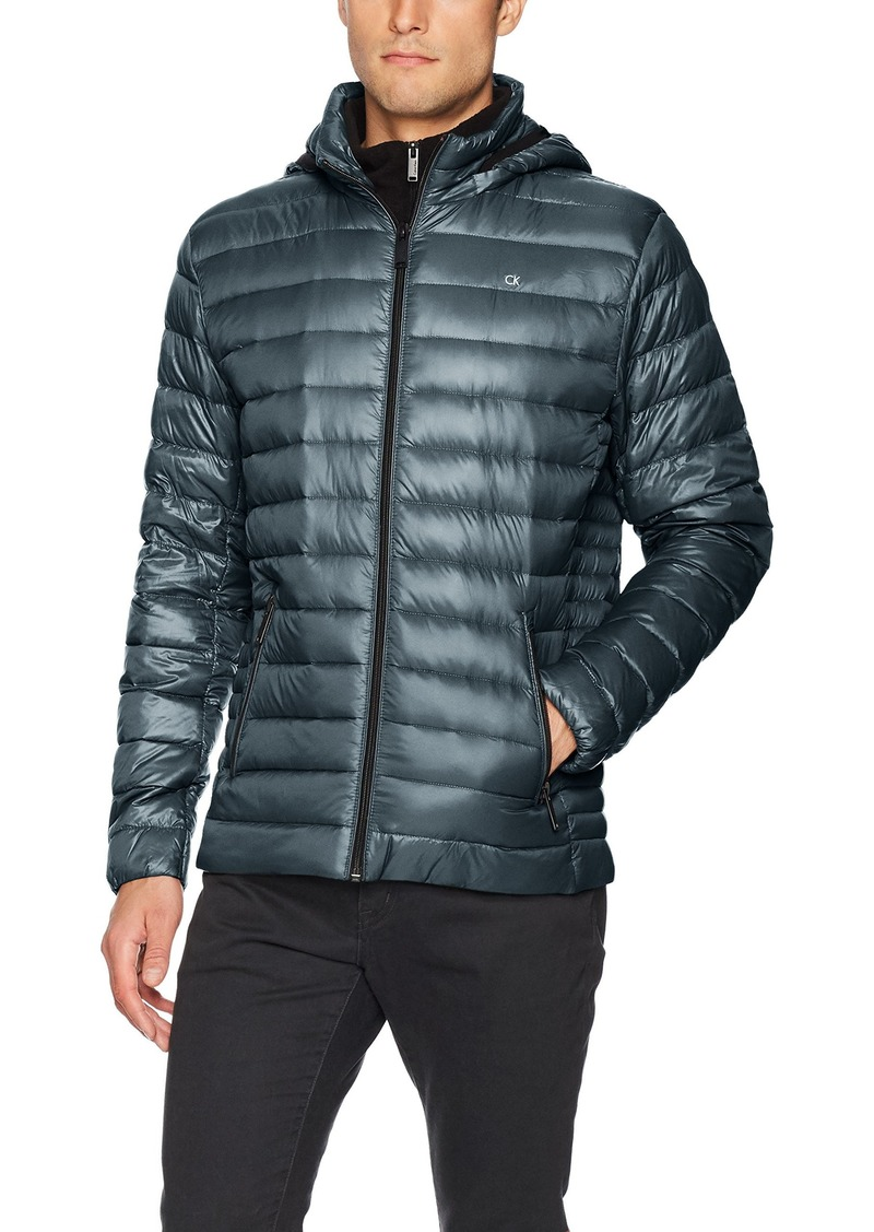 Calvin Klein Men's Packable Down Hoody Jacket