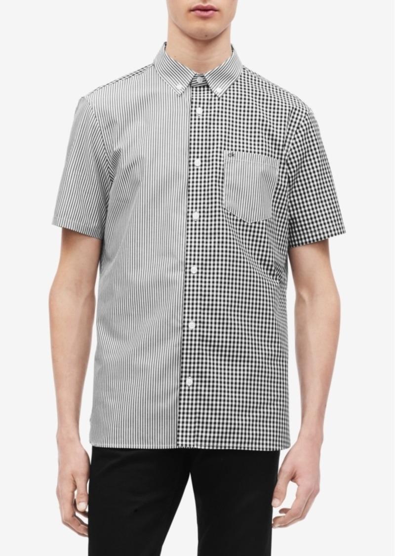 Calvin Klein Men's Pattern-Blocked Shirt