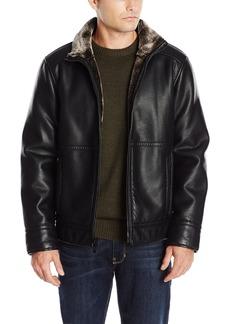 Calvin Klein Men's Pebbled Faux Shearling Jacket