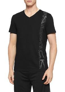 Calvin Klein Men's Performance Geo Side Body Print Crew Neck T-Shirt