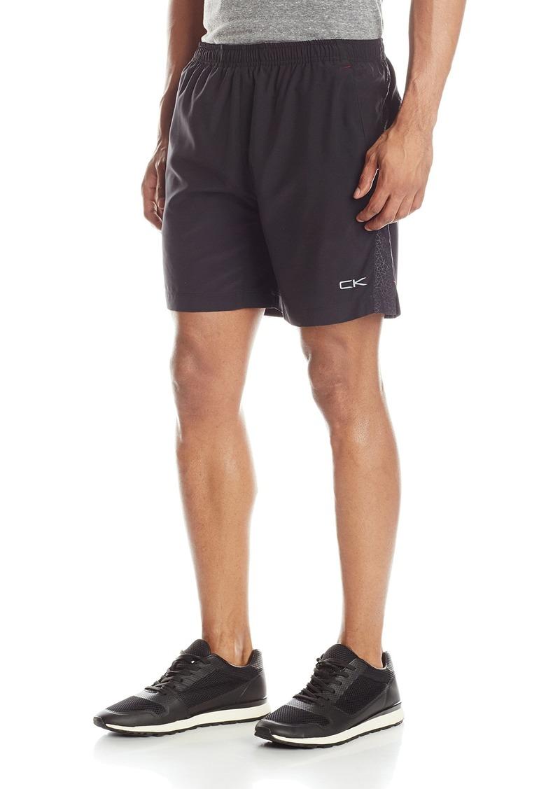 Calvin Klein Men's Performance Running Shorts with Tonal Printed Side Pane