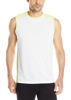 Calvin Klein Men's Performance Short Sleeve Core Reflective Print Blocked Crew Tee