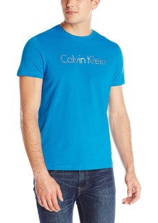 Calvin Klein Men's Performance Short Sleeve Crew Jersey Tee with Space Dyed Transf