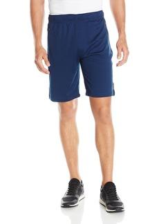 Calvin Klein Men's Performance Zip Front Pocket Mesh Color Blocked Trainer Shorts