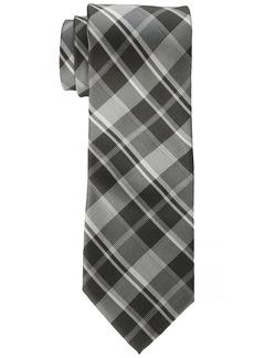 Calvin Klein Men's Plaid Tie carbon