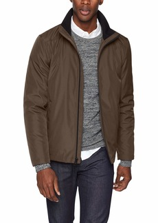 Calvin Klein Men's Calvin Klein Men's Poly Bonded Open Bottom Jacket Outerwear -deep brown