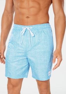 "Calvin Klein Men's Poolside Chevron 7"" Swimsuit"