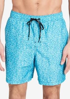 """Calvin Klein Men's Printed Euro Length 5.375"""" Swim Trunks"""