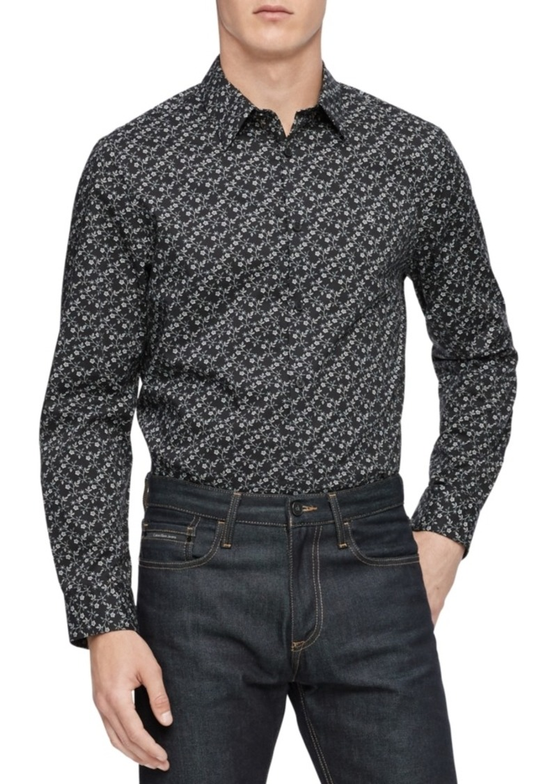 Calvin Klein Men's Printed Slim-Fit Shirt