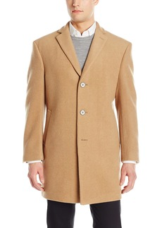 Calvin Klein Men's Modern Fit Wool Blend Overcoat Jacket   Regular