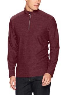 Calvin Klein Men's Quarter Zip Space Dye Pullover Sweater deep Ruby