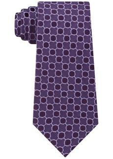 Calvin Klein Men's Quatrefoil Medallion Slim Silk Tie
