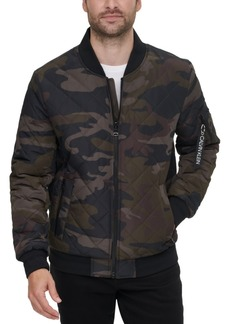 Calvin Klein Men's Quilted Baseball Jacket