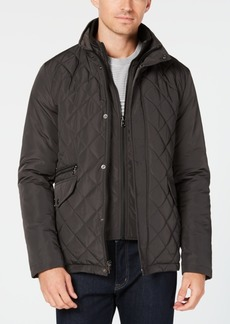Calvin Klein Men's Quilted Overcoat