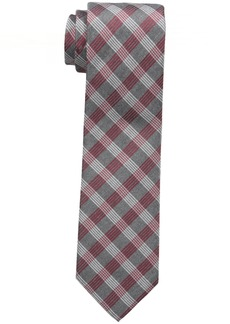 Calvin Klein Men's Red Hot Plaid Tie