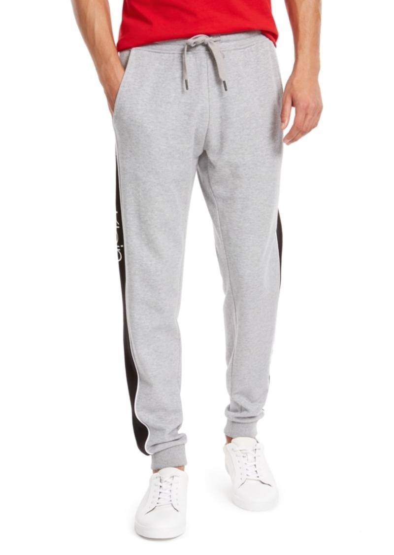 Calvin Klein Men's Regular-Fit Contrast Logo Panel Joggers