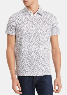 Calvin Klein Men's Regular-Fit Floral-Print Polo Shirt