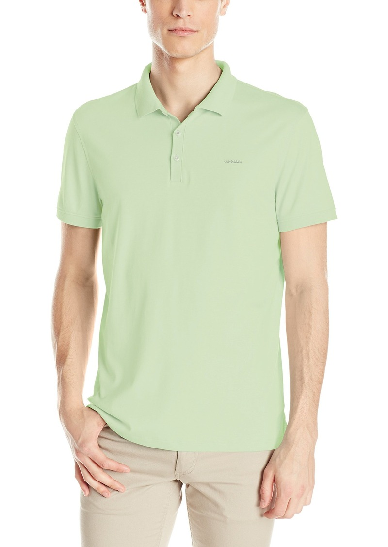 Calvin Klein Men's Regular Fit Liquid Cotton Solid Polo Shirt