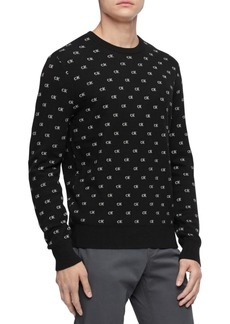 Calvin Klein Men's Regular-Fit Logo Jacquard Sweater