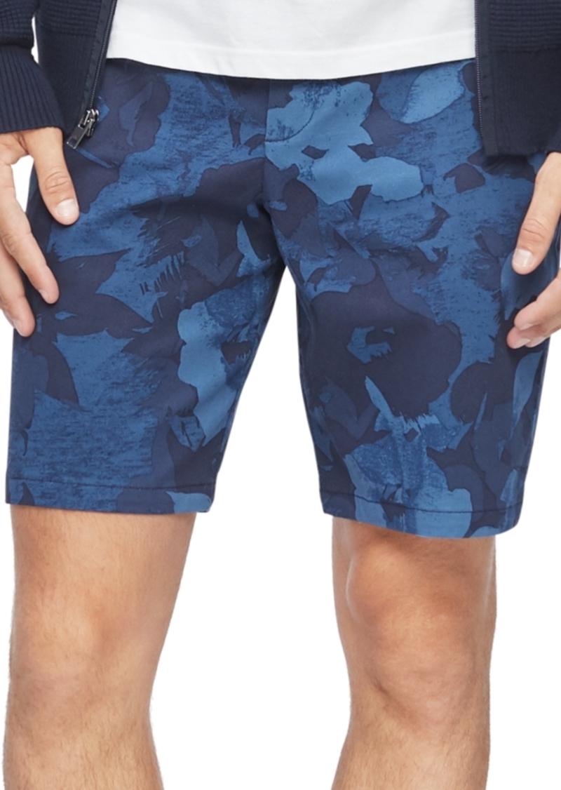 Calvin Klein Men's Regular-Fit Stretch Floral-Print Shorts