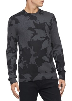 Calvin Klein Men's Regular-Fit Textured Floral Jacquard Sweater