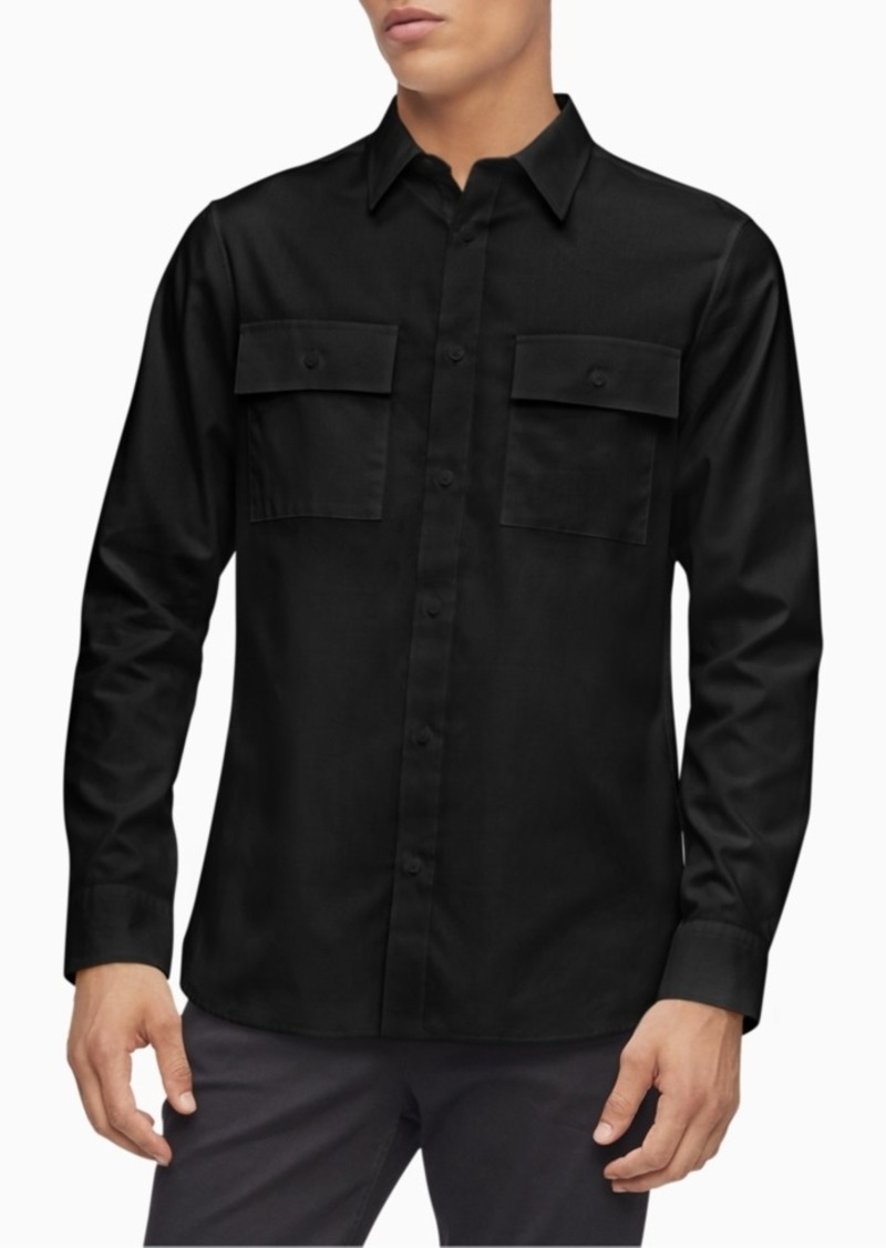Calvin Klein Men's Regular-Fit Twill Utility Shirt