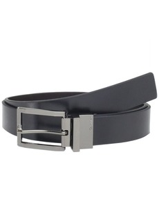 Calvin Klein Men's Reversible Belt with Rounded Square Point