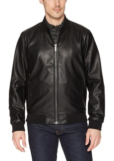 Calvin Klein Men's Reversible Faux Leather Jacket  Extra Large