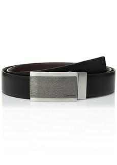Calvin Klein Men's Reversible Feather Edge Dress Belt black