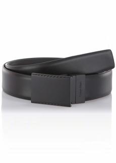 Calvin Klein Men's Reversible Plaque Dress Belt black/Grey