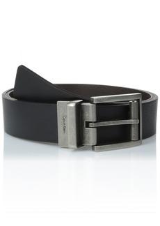 Calvin Klein Men's Reversible Roller Buckle Belt