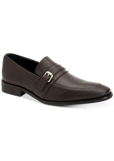 Calvin Klein Men's Reyes Tumbled Leather Loafers Men's Shoes