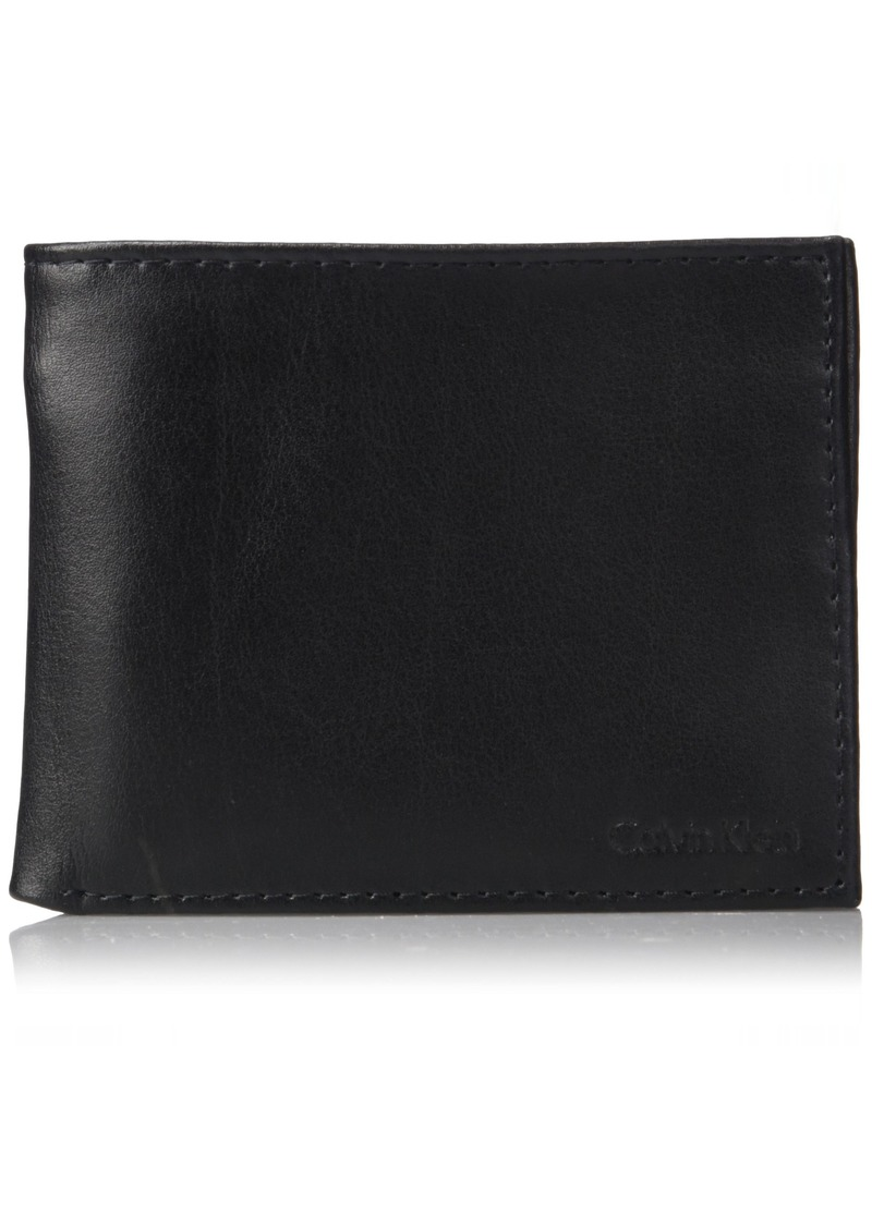 Calvin Klein Men's RFID Blocking Leather Bifold Wallet black