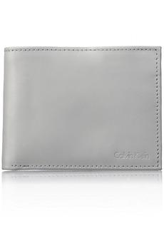 Calvin Klein Men's RFID Blocking Leather Bifold Wallet Cool Gray