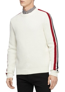 Calvin Klein Men's Ribbed Striped-Sleeve Sweater