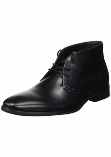 Calvin Klein Men's Rolando Box Leather/Stamp Texture Chukka Boot  7.5 M M US