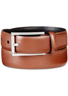 Calvin Klein Men's Roller-Buckle Leather Belt