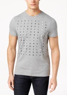 Calvin Klein Men's Scattered Letters Logo-Print T-Shirt