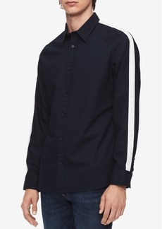 Calvin Klein Men's Set-On Placket Racing Stripe Shirt