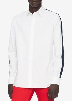 Calvin Klein Men's Set-On Placket Racing Stripe Shirt
