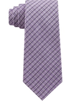 Calvin Klein Men's Shing Check Silk Tie
