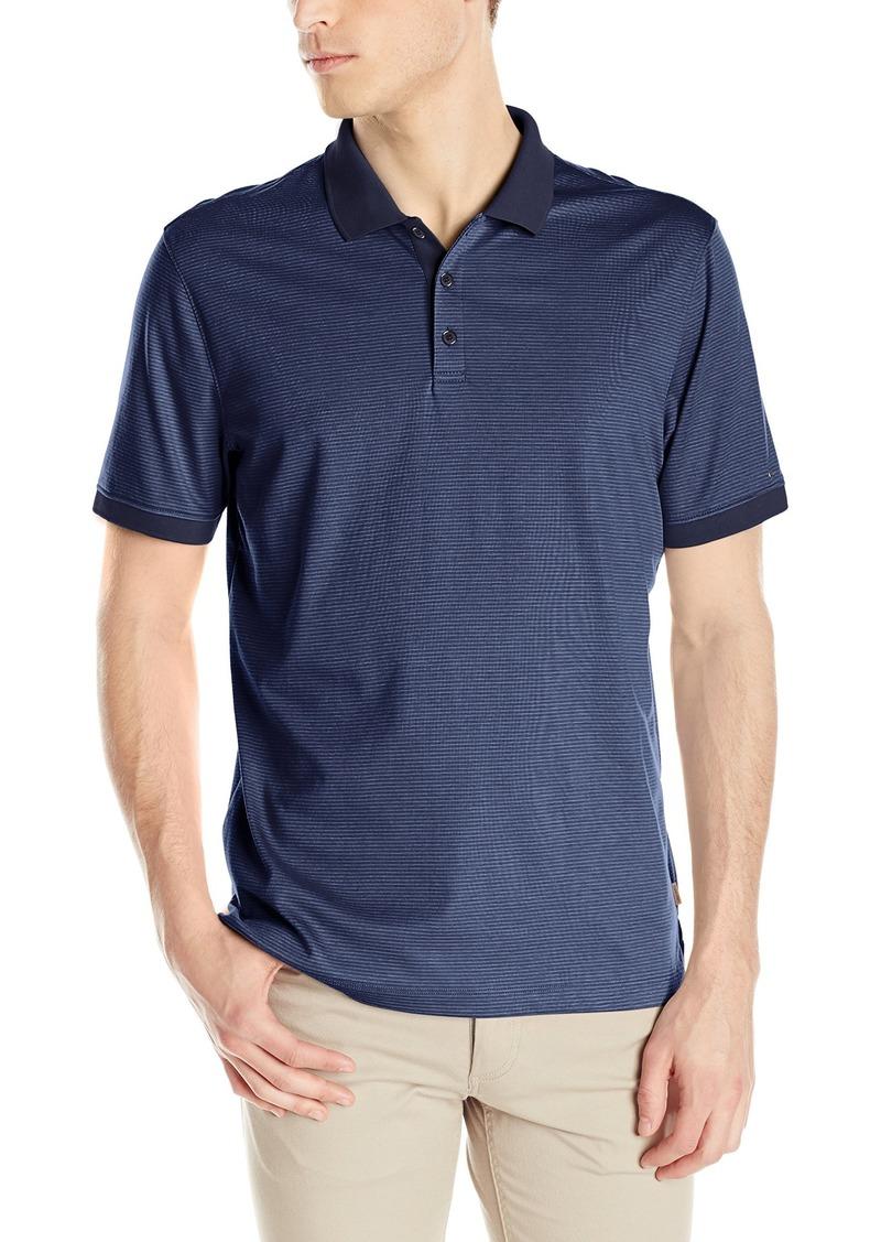 Calvin Klein Men's Short Sleeve 2 Button Liq Polo Atlantis