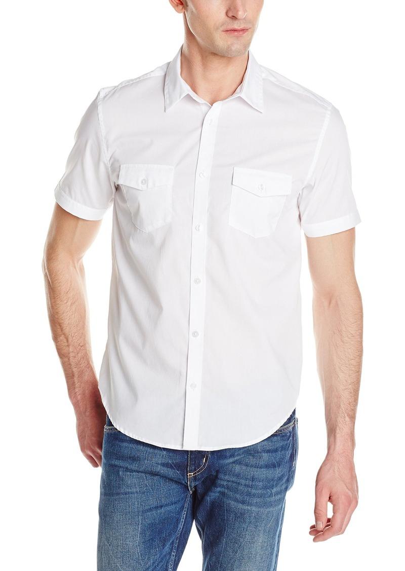 Calvin klein calvin klein men 39 s short sleeve 2 pocket for Mens two pocket short sleeve shirts