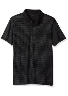 Calvin Klein Men's Short Sleeve All Over CK Logo Polo