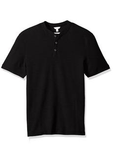 Calvin Klein Men's Short Sleeve Bomber Collar Pique Polo