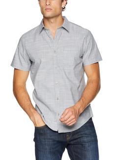 Calvin Klein Men's Short Sleeve Button Down Shirt  M