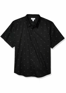 Calvin Klein Men's Short Sleeve Button Down Stretch Cotton Shirt  2X-Large