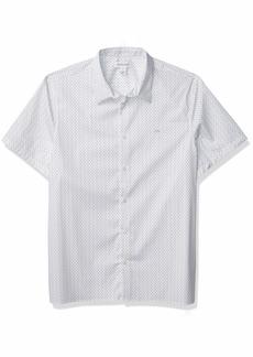 Calvin Klein Men's Short Sleeve Button Down Stretch Cotton Shirt